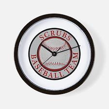 Scrubs Baseball Team Wall Clock