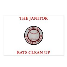 The Janitor Bats Clean-Up Postcards (Package of 8)