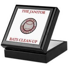 The Janitor Bats Clean-Up Keepsake Box