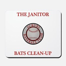 The Janitor Bats Clean-Up Mousepad