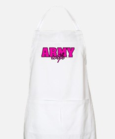 Army Wife Hot Pink/Black Apron