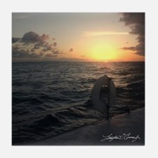Sunset Sailing Cermaic Tile Coaster