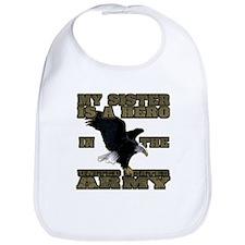 Army Hero Sister Bib