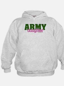 Army Daughter pink/green Hoodie