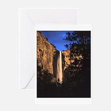 Day's Last Light, Bridalveil Fall, Yosemite Greeti