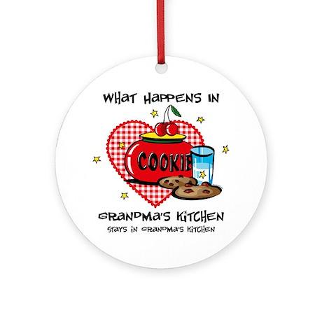 Happens In Grandma's Kitchen Ornament (Round)