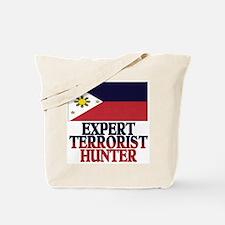 PHILIPPINE FLAG EXPERT TERRORIST HUNTER Tote Bag