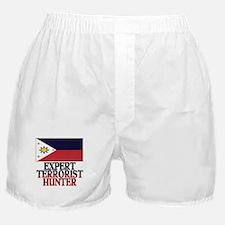 PHILIPPINE FLAG EXPERT TERRORIST HUNTER Boxer Shor