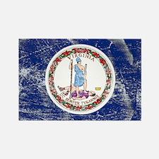 Vintage VA State Flag Rectangle Magnet