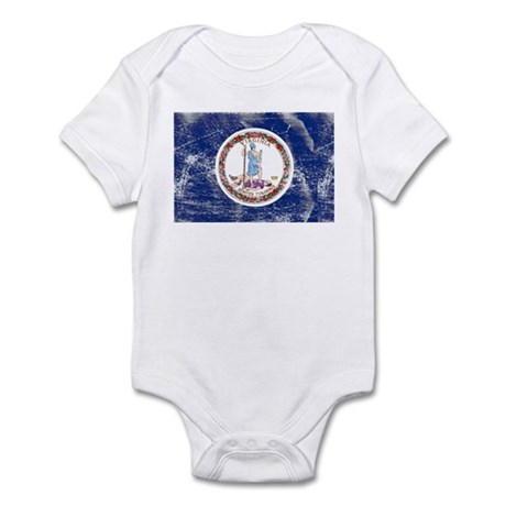 Vintage VA State Flag Infant Bodysuit