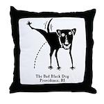 The Bad Black Dog Throw Pillow