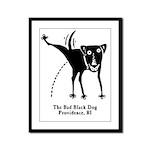 The Bad Black Dog Framed Panel Print