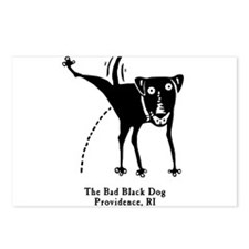 The Bad Black Dog Postcards (Package of 8)