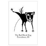 The Bad Black Dog Large Poster