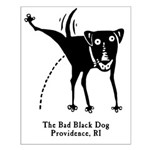 The Bad Black Dog Small Poster