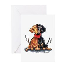 Smooth Dachshund Lover Greeting Card