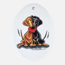 Smooth Dachshund Lover Ornament (Oval)