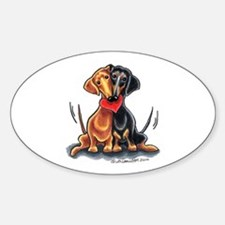Smooth Dachshund Lover Sticker (Oval)