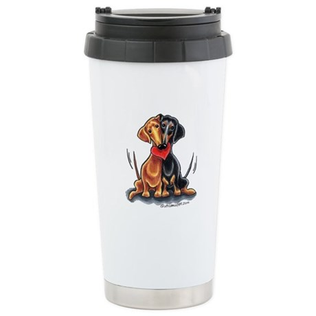 Smooth Dachshund Lover Stainless Steel Travel Mug