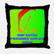 KEEP CAPITAL PUNISHMENT Throw Pillow