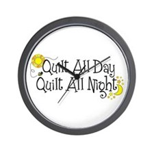 Funny Quilting mom Wall Clock