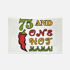 Hot Mama At 75 Rectangle Magnet
