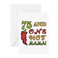 Hot Mama At 75 Greeting Cards (Pk of 10)