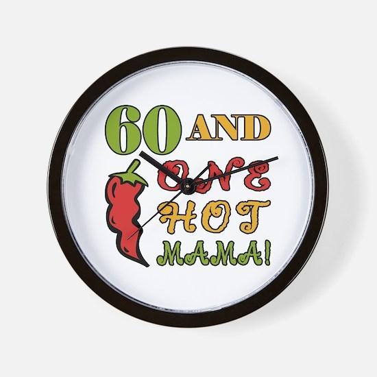 Hot Mama At 60 Wall Clock