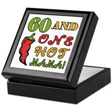 Hot Mama At 60 Keepsake Box