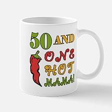 Hot Mama At 50 Mug