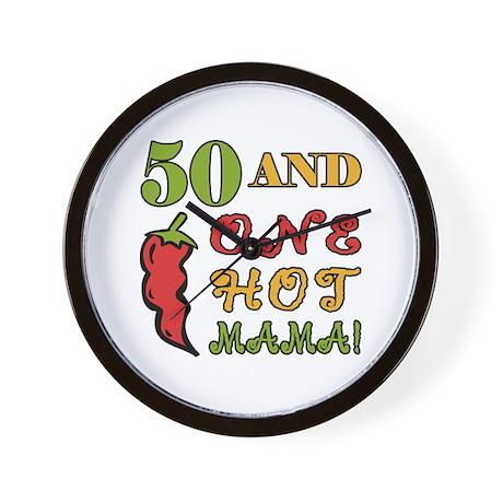 Hot Mama At 50 Wall Clock