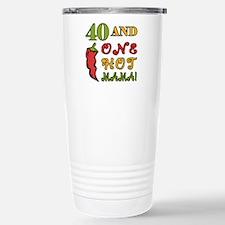 Hot Mama At 40 Travel Mug