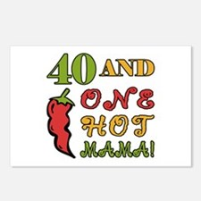 Hot Mama At 40 Postcards (Package of 8)