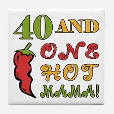 Hot Mama At 40 Tile Coaster