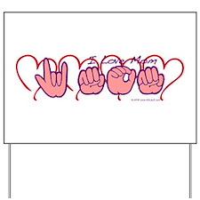 ILY Mom Hearts Yard Sign