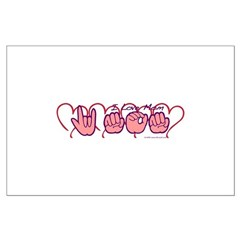 ILY Mom Hearts Posters