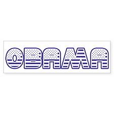Obama Stars and Stripes Bumper Sticker