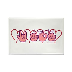 ILY Mom Hearts Rectangle Magnet (10 pack)