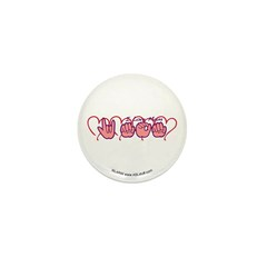 ILY Mom Hearts Mini Button (10 pack)