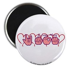 "ILY Mom Hearts 2.25"" Magnet (10 pack)"