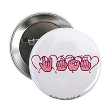 """ILY Mom Hearts 2.25"""" Button (10 pack)"""