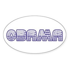Stars and Stripes Obama Decal