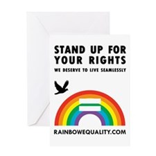 Cute Equality march Greeting Card