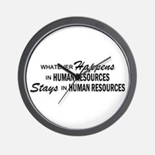 Whatever Happens - Human Resources Wall Clock