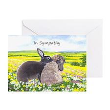 Rabbits Sympathy Greeting Cards (Pk of 10)