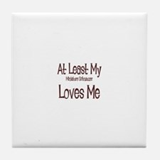 At Least My Miniature Schnauz Tile Coaster