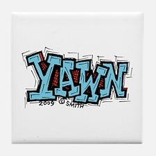 Yawn Tile Coaster