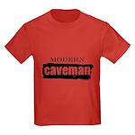Modern caveman, paleo Kids Dark T-Shirt
