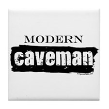 Modern caveman, paleo Tile Coaster