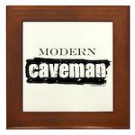 Modern caveman, paleo Framed Tile